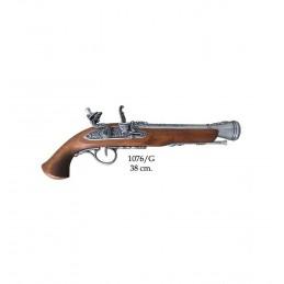 Pistole s křesacím zámkem,...