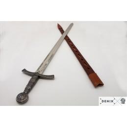 Středověký Meč s Koženou...